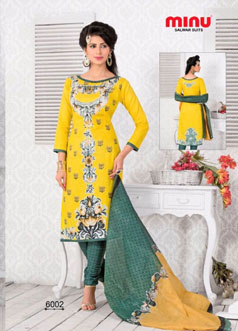 Make yourself look mesmerizing within minutes with these two salwar kameez sets in bright hues.