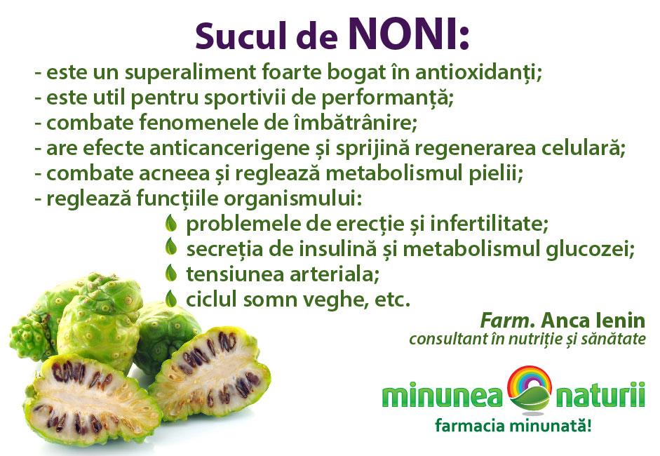 Noni - Minunea Naturii Farm. Anca Ienin - consultant in nutritie si sanatate