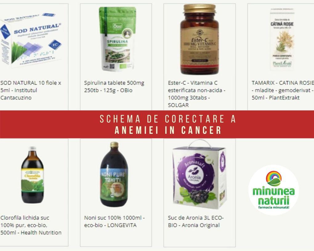 Pachet de produse naturale pentru corectarea Anemiei in cancer