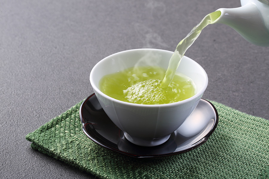 ceai verde fierbinte