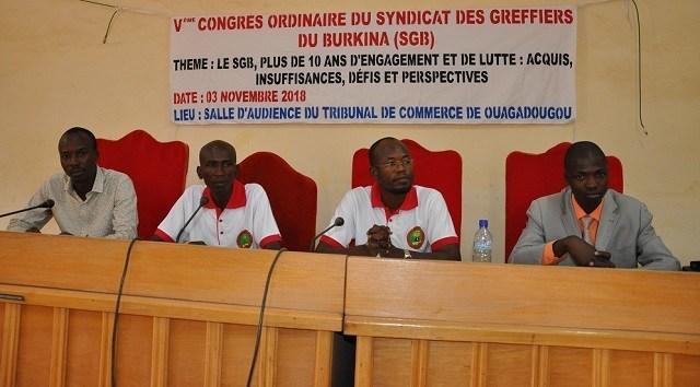 """Résultat de recherche d'images pour """"les syndicats des greffiers du burkina faso"""""""