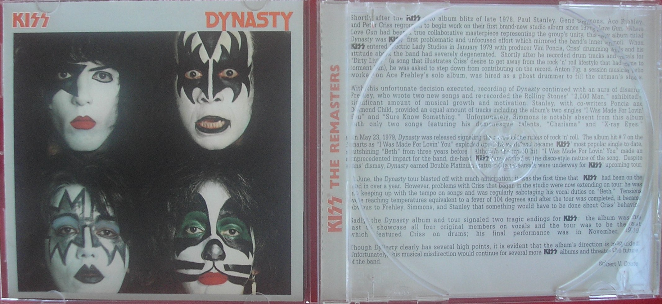 A edição do cd remaster com a resenha em inglês