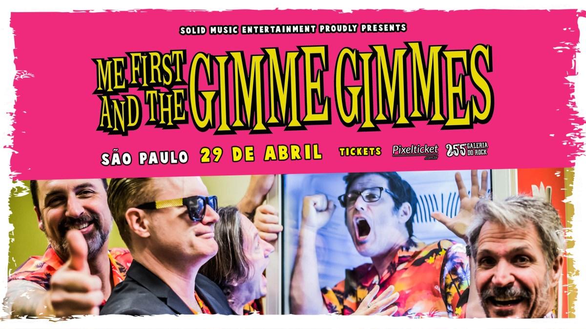 Me First and The Gimme Gimmes se apresentará no Brasil em Abril