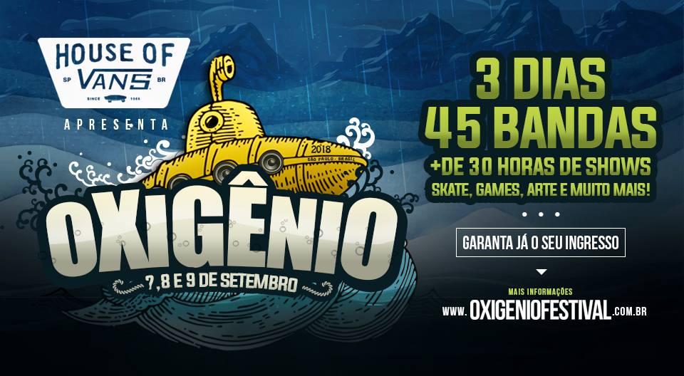 Oxigênio Festival acontece em setembro em São Paulo