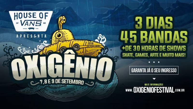 Confira os horários de cada banda no Oxigênio Festival