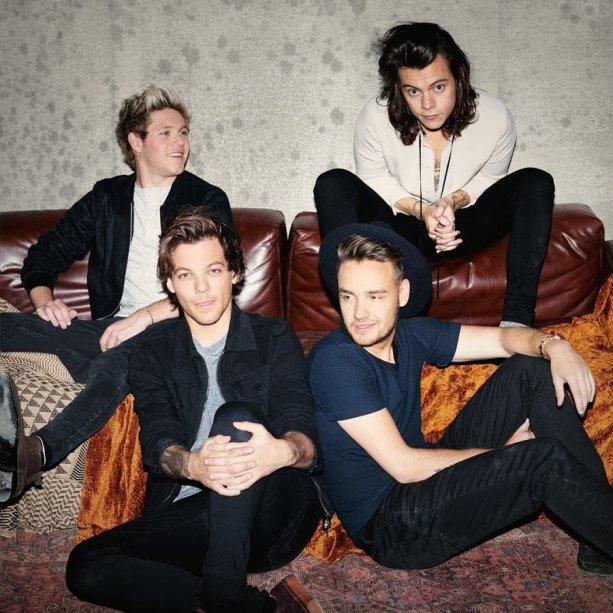 A banda One Direction, com Niall Horan