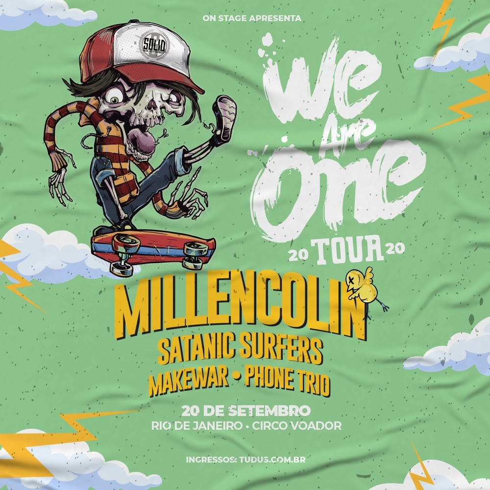 Millencolin, Satanic Surfers e MakeWar tocarão no We Are One RJ