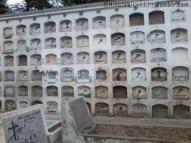 Vista de otro cuartel del cementerio.