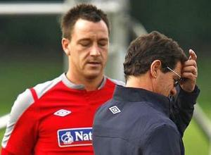 John Terry si Fabio Capello