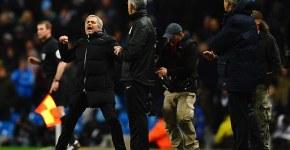 Jose Mourinho in Manchester City v Chelsea 0-1
