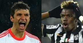 Thomas_Muller_Paul_Pogba Juventus vs Bayern Munchen