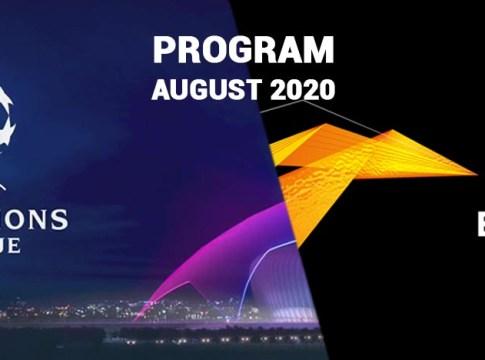 UCL-UEL-program-august-2020