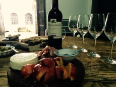 The spread we prepared for the wine tasting