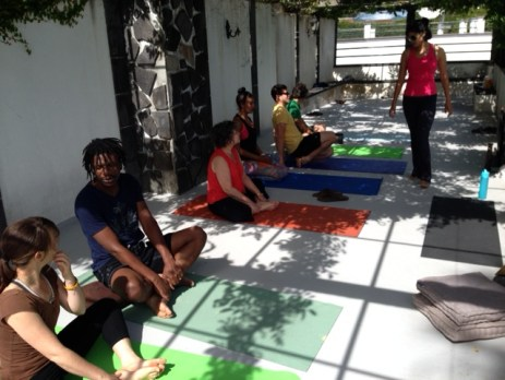 Yoga classes on our roofdeck