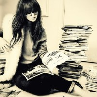Summer Inspiration:  piles of fashion magazines