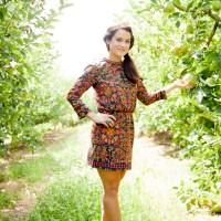 Orange crush in an apple orchard.
