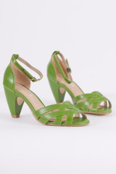 Nirvana Ankle Strap Heels in Green
