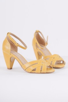 Nirvana Ankle Strap Heels in Gold