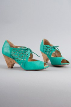 Jazz Lace-Up Heels in Teal