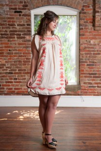 Paola Embroidered Dress