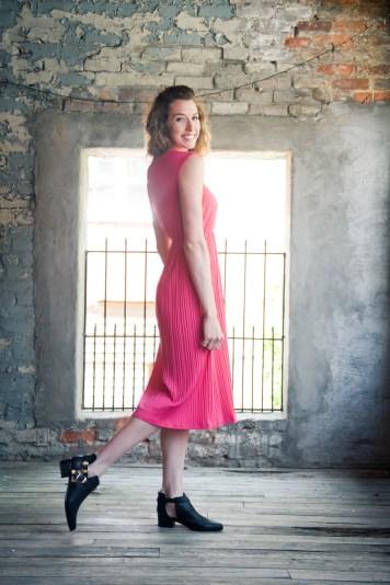 lavand. fuchsia dress