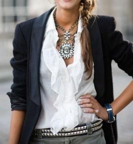 9. Floral Shirt & Blazer