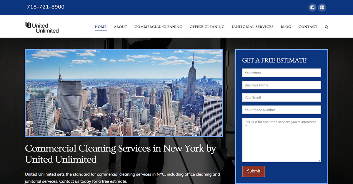 united unlimited cleaning seo and web design by minyona.com