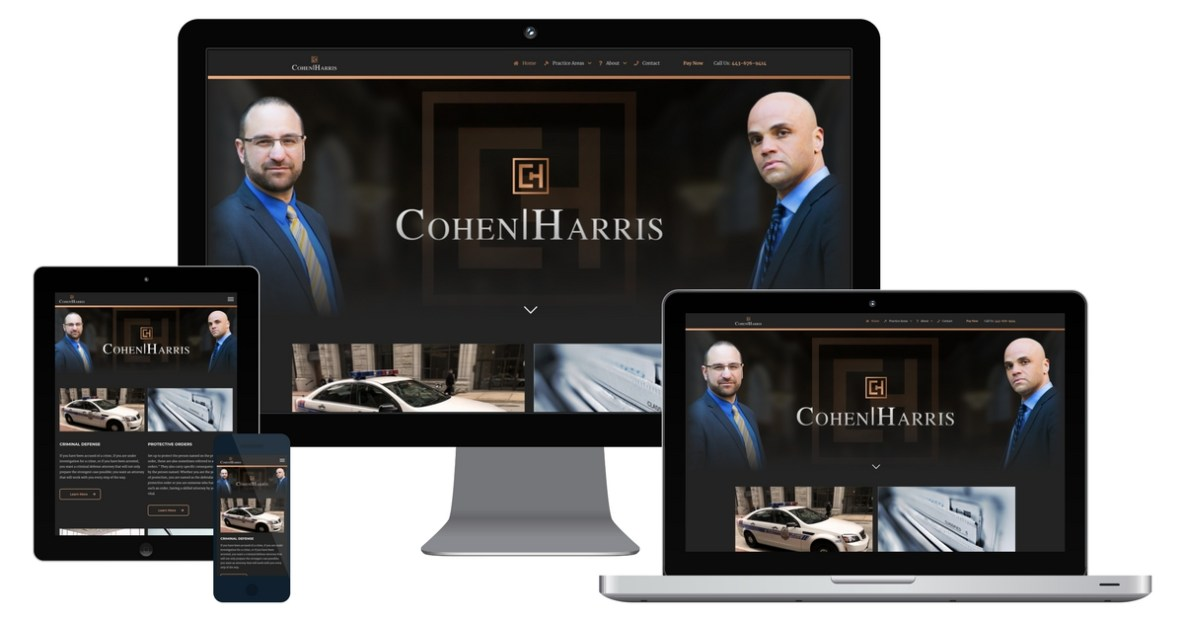 cohen harris law firm website design