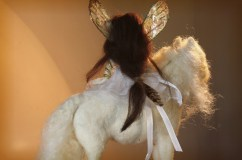 felted white pony