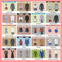 School uniform from popular anime series