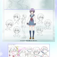The Disappearance of Nagato Yuki-chan character sketches