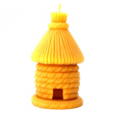 Skep with bees candle (medium)