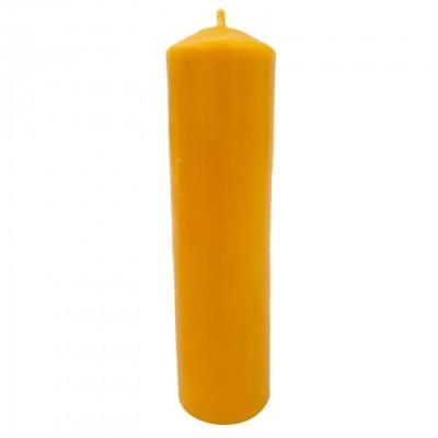 Large pillar beeswax candle