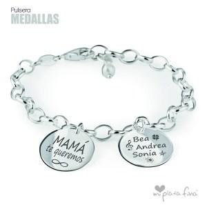Top 10 pulseras de plata más venidas - Pulsera MEDALLAS