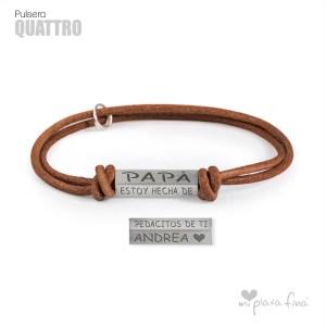 Top 10 pulseras de plata más venidas - Pulsera QUATTRO