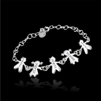 pulsera plata ñinos | pulsera personalizada con niños