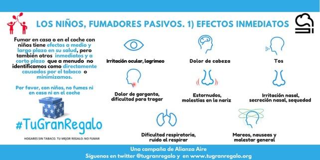 3 Efectos inmediatos del tabaquismo pasivo en niños