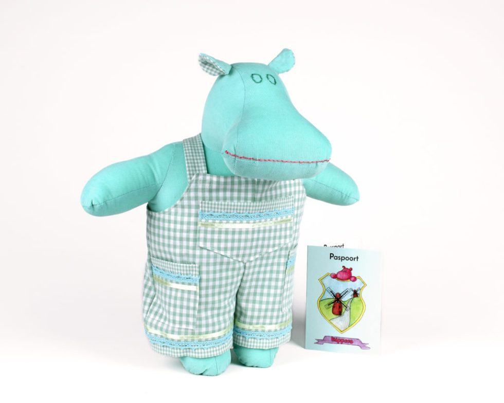 Meadow the golf Mippo and his hippo doll passport