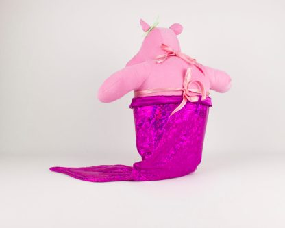 handmade hippo mermaid doll
