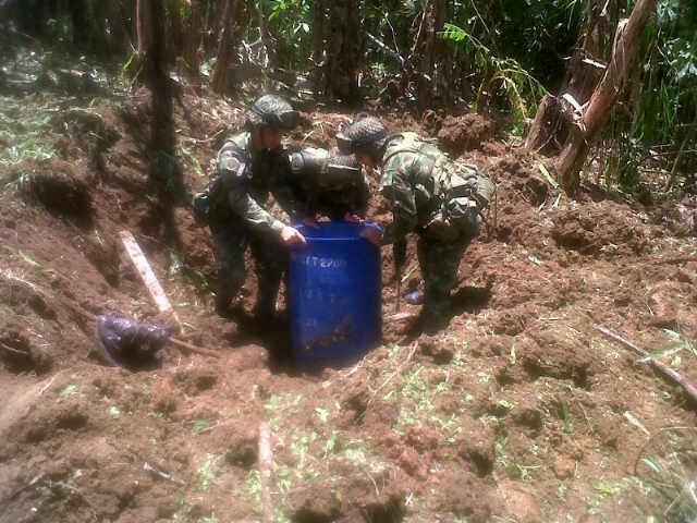 Media tonelada de anfo fue Encontrada por tropas de la Brigada Móvil No 13.
