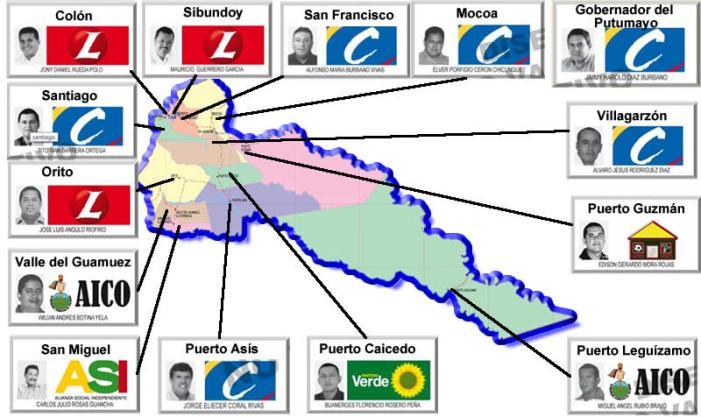 Mapa Electoral del Putumayo – 2011