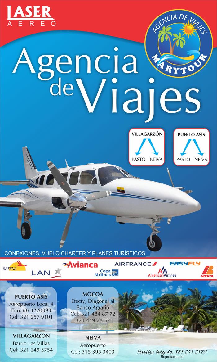 Nuevas rutas aéreas desde Puerto Asis y Villagarzón hacia Neiva y Pasto