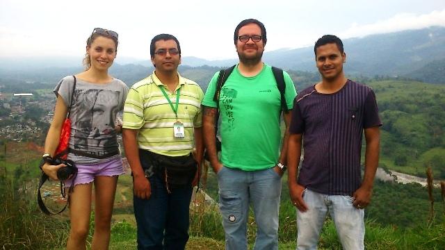 Sofía Gaviria (Periodista), Luis Carlos Chamorro (Guía Territorio Putumayo), Paulo Andrés Henao (Fotógrafo), Dani Leandro Beltran (Conductor SurEspecial)