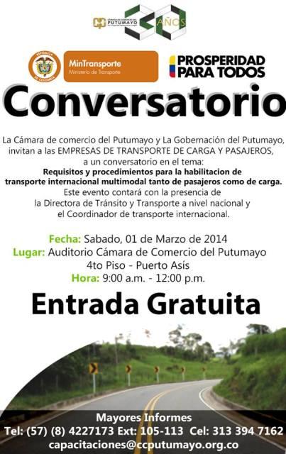 Conversatorio para Empresas de Transporte de Carga y Pasajeros