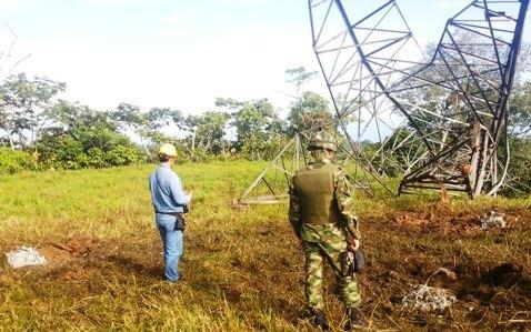 Tres municipios del Putumayo continúan a oscuras por culpa de las farc