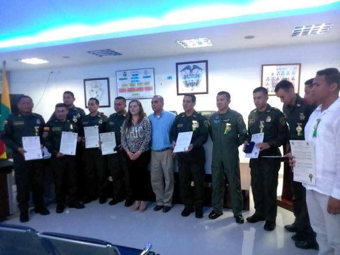 Alcaldía de Villagarzón condecora a uniformados en anivesario 123 de la Policía Nacional