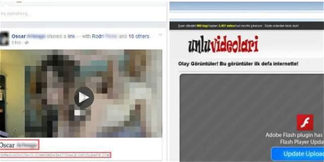 Foto: ESET Se recomienda no abrir ningún video erótico que aparezca en su muro de Facebook.