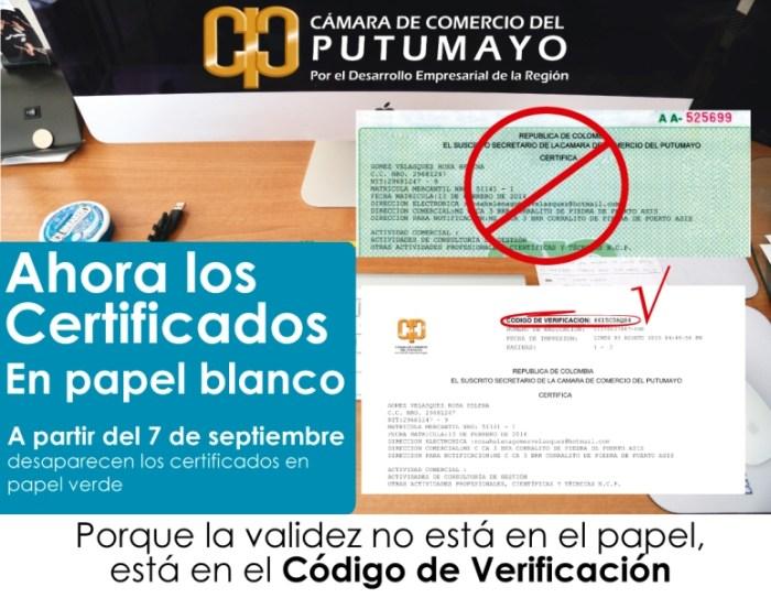 Ahora los certificados en papel blanco