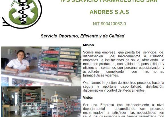 IPS Servicio Farmacéutico SAN ANDRES S.A.S