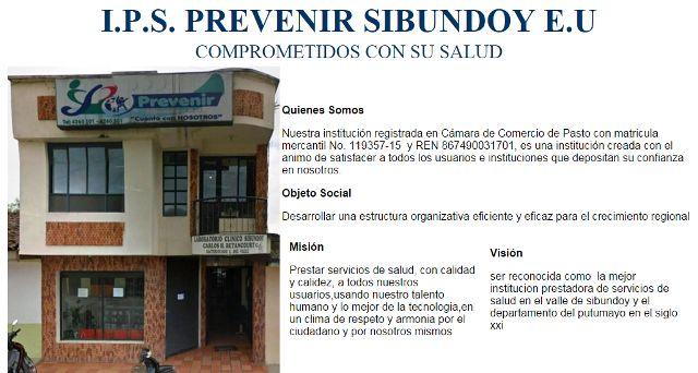 IPS Prevenir Sibundoy